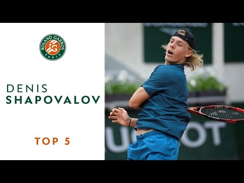 Denis Shapovalov - TOP 5 | Roland Garros 2018