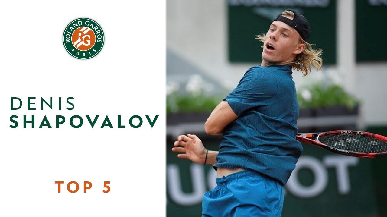 Denis Shapovalov - TOP 5 | Roland Garros 2018