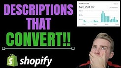 Shopify - 3 Keys To Descriptions That Convert