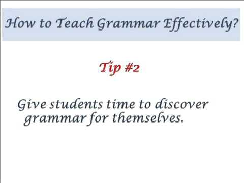 How to Teach Grammar Effectively - YouTube