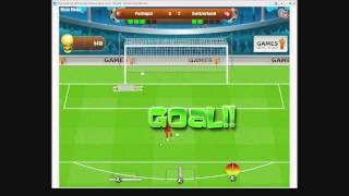 World cup 2010 penalty shootout on Y8 (Let's Plays Monday) Y8 Soccer game