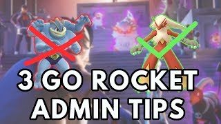 3 GO Rocket Admin Tips | Pokemon GO
