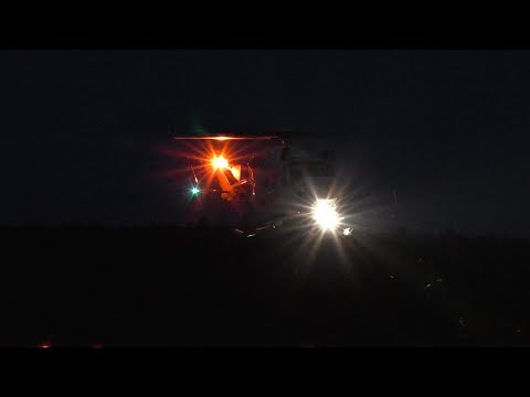 [HD] Air Ambulance 02 , Offshore Rescue Helicopter landing in Sunset
