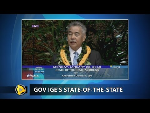 Governor Ige Talks About How He Sees Hawaii (Jan. 22, 2018)