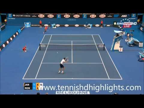 Jerzy Janowicz vs Gael Monfils Monfils Highlights HD Australian Open 2015