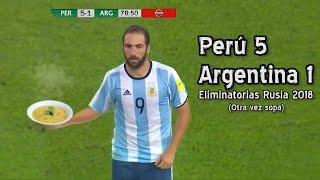 Perú 5  Argentina 1 - Eliminatorias Rusia 2018 (Parodia)