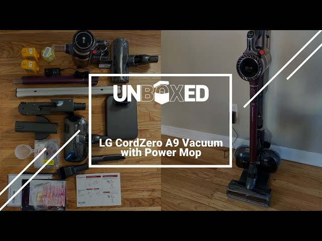 UNBOXED: LG CordZero A9 Kompressor Stick Vacuum with Power Mop