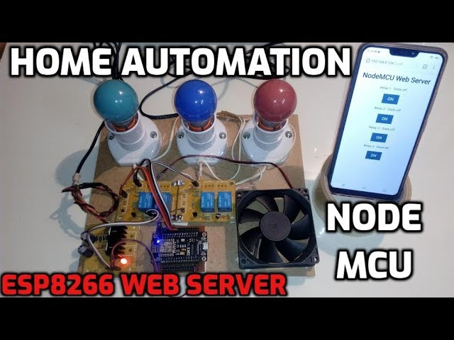 Home Automation using NodeMCU | Build an ESP8266 Web Server with
