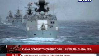 China conducts combat drill in disputed sea