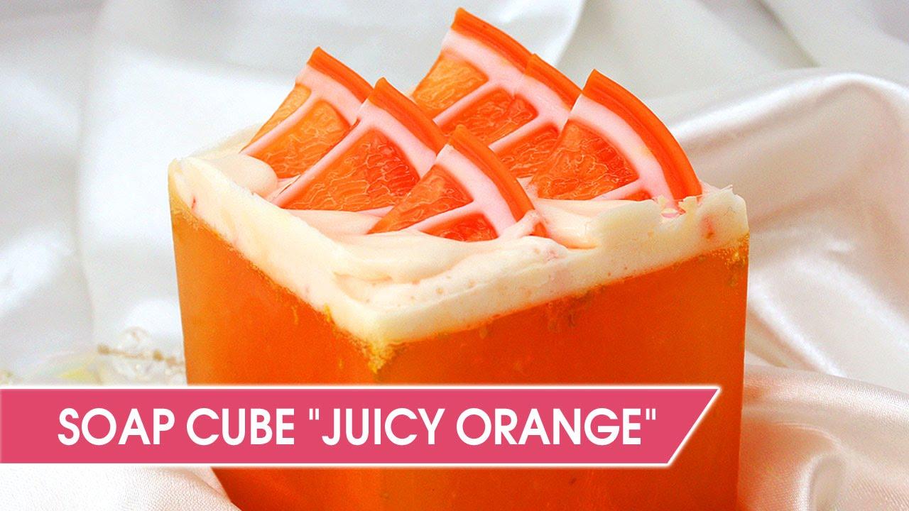 Diy Orange Soap Cube Make Glycerin Citrus Youtube Secret Garden Exfoliating Loofah