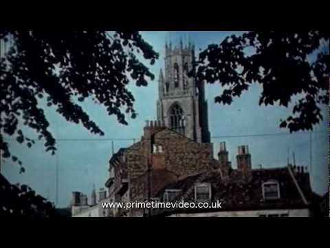 Archive film of Boston, Lincolnshire