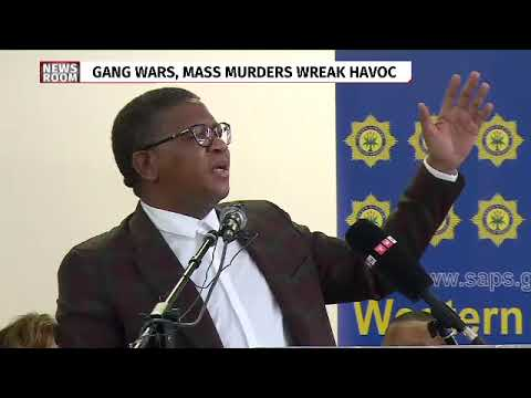 Police Minister Fikile Mbalula in Philippi after the shooting