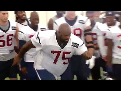Vince Wilfork Has Field Goal Competition with Carli Lloyd