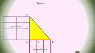 uitleg bewijs stelling van Pythagoras