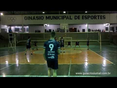 Voleibol, primeira rodada, Jogos Abertos 2018 Crissiumal