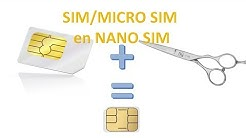 DECOUPER une CARTE SIM ou Micro SIM en NANO SIM pour ZERO EURO : Un Ex No Life Bricole