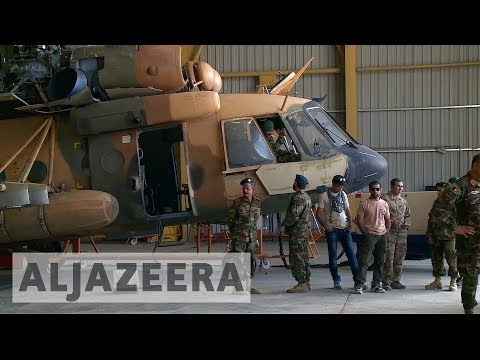 Afghan air force receives its first Blackhawk helicopters