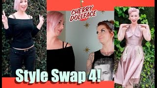 style swap 4 casual goth to 1950s sophisticated by cherry dollface