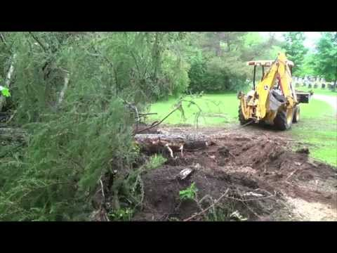 Tree day cutting stump removal and clean up 110tlb tractor pull