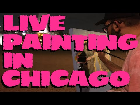 Live Painting Chance The Rapper In Grant Park Chicago [Live Painting: Chance The Flyboy]