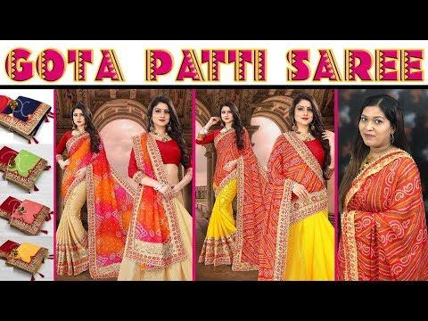 Designer Gota Patti Saree at Low Price ll Online Shop ll 30 Oct 2018