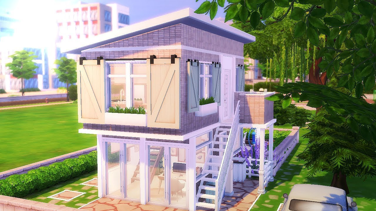 Eco Rustic Modern Tiny House The Sims 4 Speed Build