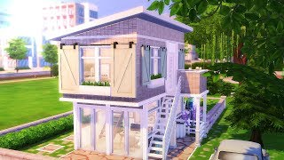 ECO RUSTIC MODERN TINY HOUSE || The Sims 4: Speed Build