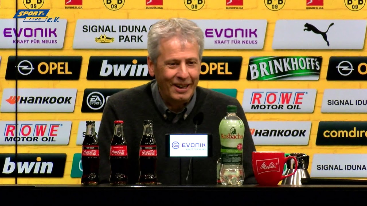 BVB-PK mit Lucien Favre und Friedhelm Funkel
