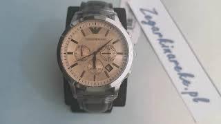 buying now website for discount half price Emporio Armani Armani Classic Chronograph Beige Dial Men's ...