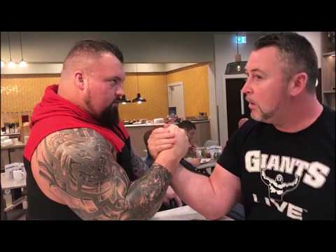 Building the Beast | Eddie Hall gets a breakfast table intro to armwrestling