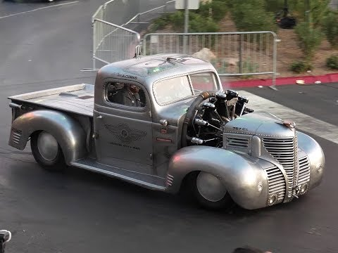1939 Plymouth Radial Air - 7 Cylinder Cessna Aircraft Engine Powered Pickup Truck