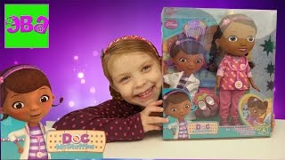 Доктор Плюшева распаковка игрушки Набор с халатом Doc McStuffins unpacking toys set with medical gow