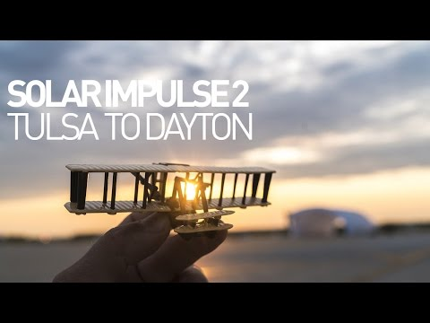 Solar Impulse Airplane - Leg 12 - Flight Tulsa to Dayton