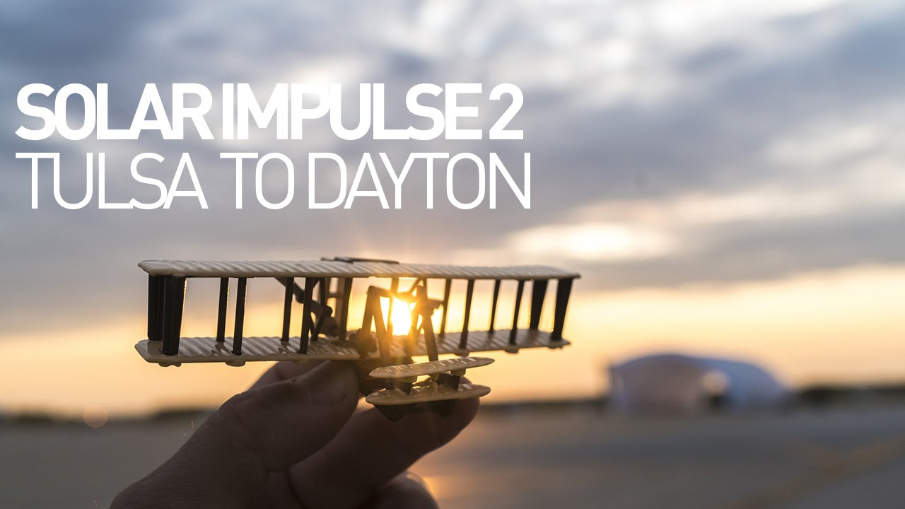 Solar Impulse Airplane – Leg 12 – Flight Tulsa to Dayton