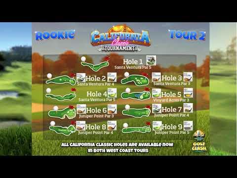 Golf Clash Tips, Clubguide - California Classic tournament, Rookie - Tour 2