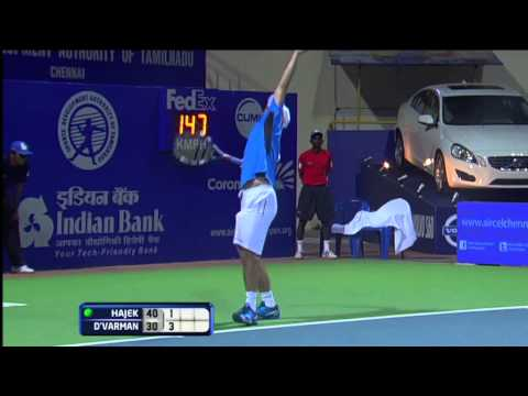 ACO 2013 - Day 2 Match 2 Highlights - Somdev Devvarman (IND) vs Jan Hajek (CZE)