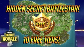 Free Treasure! SECRET FREE Tier Challenge In Fortnite Battle Royale! 10 Free Tiers! Season 4 WEEK 3!