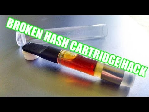 BROKEN HASH OIL CARTRIDGE HACK!!