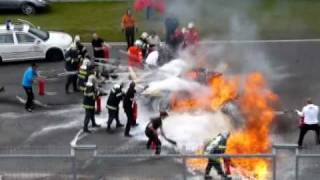 Repeat youtube video Horrible crash Brno    Lamborghini Gallardo LP 560-4 BURNS   