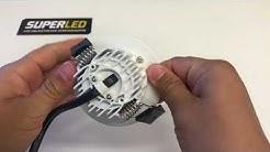 SuperLED valkoinen LED-paneeli OODI 7W