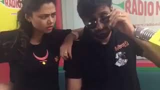 Vaibhav and Prathana on radio 98.3fm for Mr. And ms. sadachari promotion