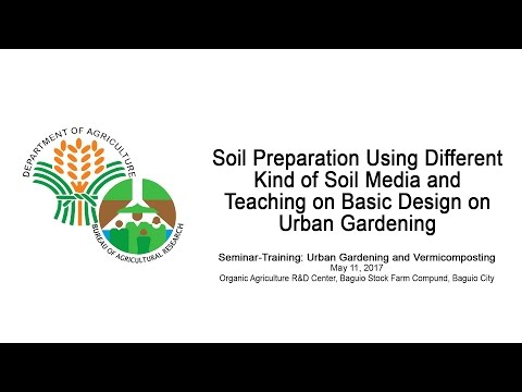Soil Preparation Using Different Kind of Soil Media and Basic Design in Urban Gardening