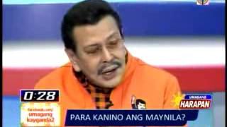 Video  Mayor Alfredo Lim, Joseph Estrada Debate