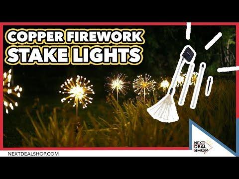Hottest Garden Trend! - Copper Firework Stake Lights - NextDealShop
