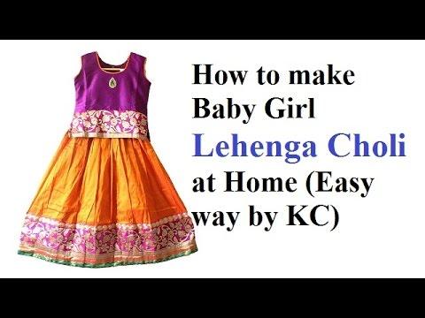 How to make baby Lehenga Choli at home