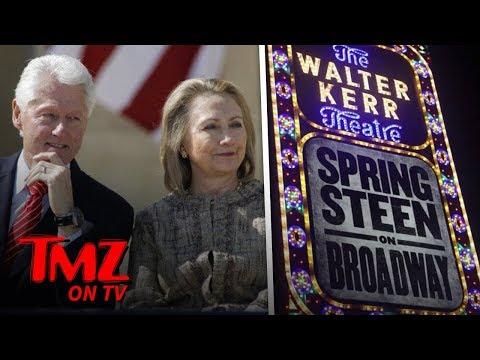 Hillary & Bill Hit Up A Springsteen Concert! | TMZ TV