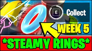 COLLECT FLOATING RINGS AT STEAMY STACKS (ALL LOCATIONS) - Fortnite Season 3 Week 5 Challenges