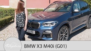 2018 BMW X3 (G01): BMW X3 M40i M Performance Test / Review (ENGLISH Subtitles) - Autophorie
