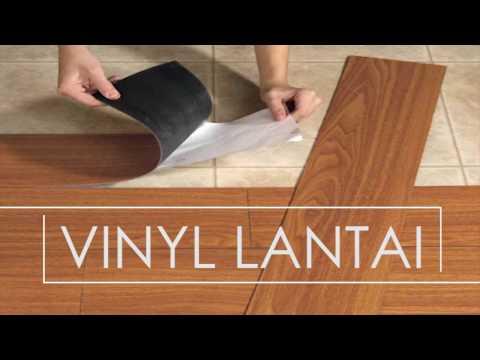 Vinyl lantai alternatif selain keramik dan granit