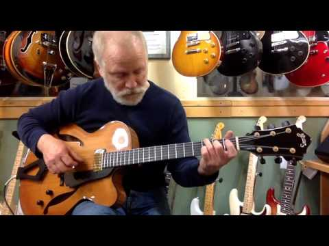 """2007 Grimes Bluesette 16"""" Guitar w/pickup at Gryphon Stringed Instruments   """"Merry Little Christmas"""""""